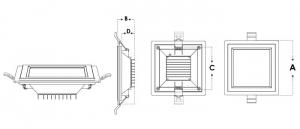 تصویر برداری گلاریس مربع