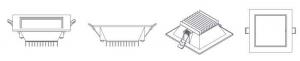 تصویر شماتیک چراغ سولاریس مربع